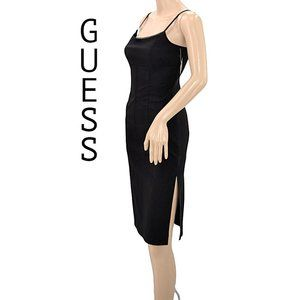 NWT Guess Little Black High Side Slit Dress S 4 5